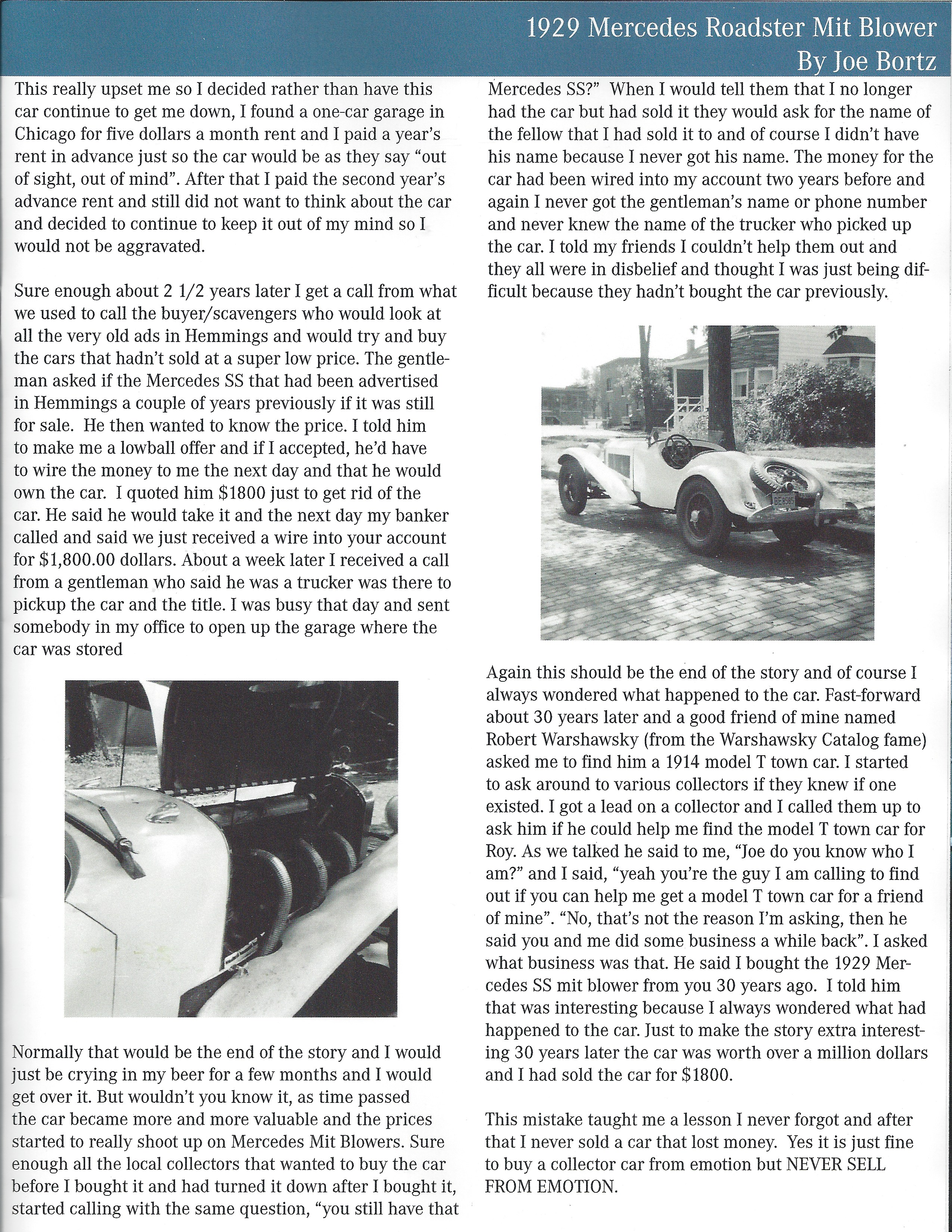 1929 Mercedes Roadster Mit Blower by Joe Bortz, Star Reflections 02 2016
