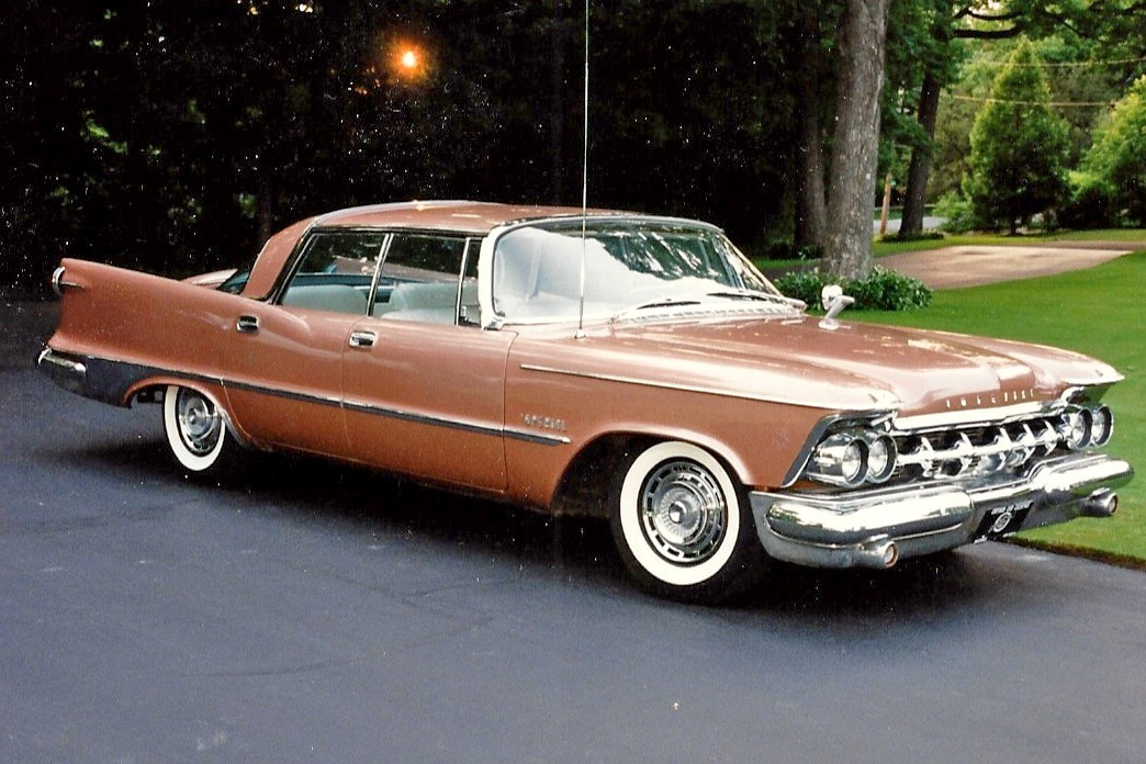 1959 Chrysler Imperial 4-door hardtop owned by Joe in the early 1990s. Very unusual color.