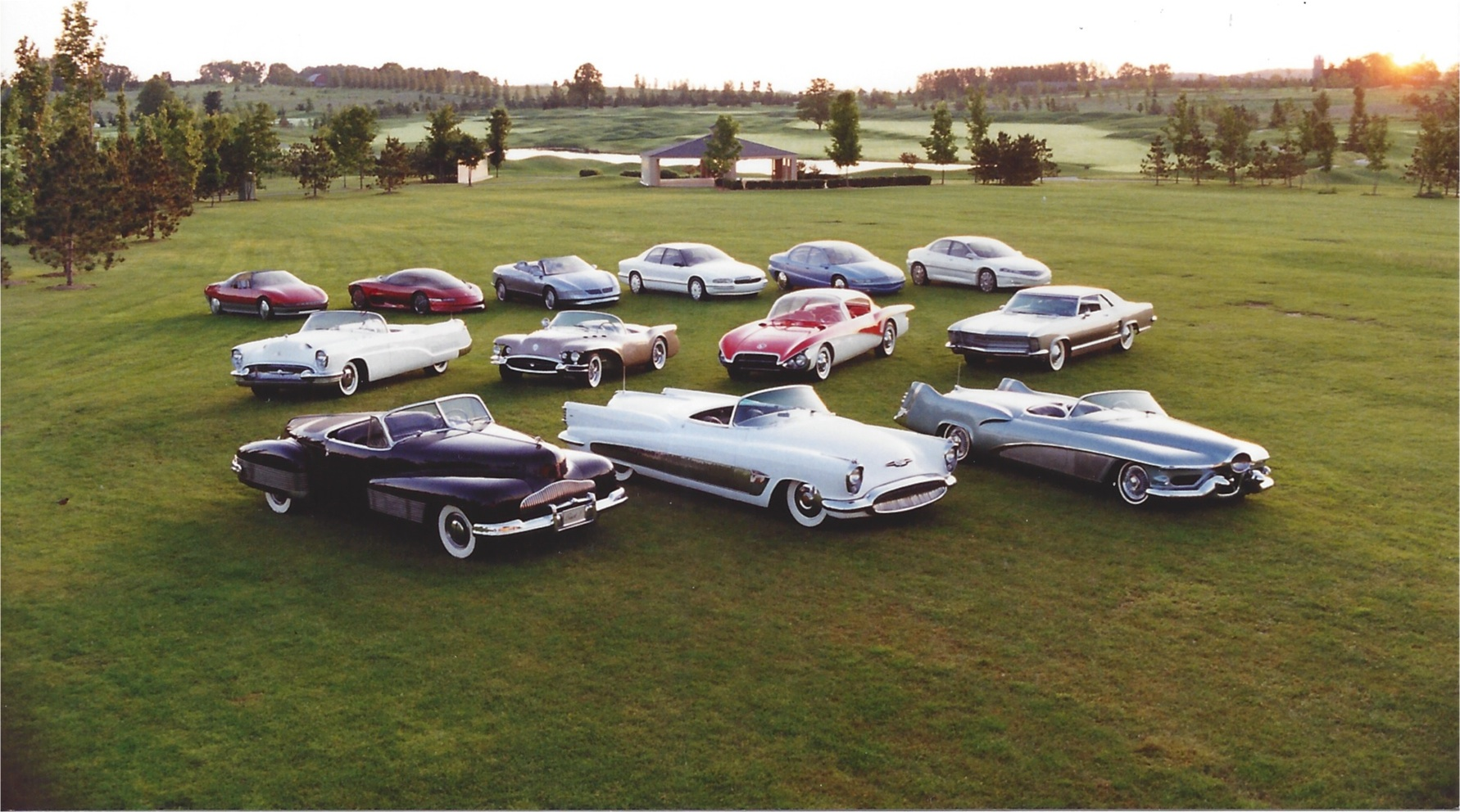 General Motors official photo of the Buick Dream Cars/Concept Cars circa 1994