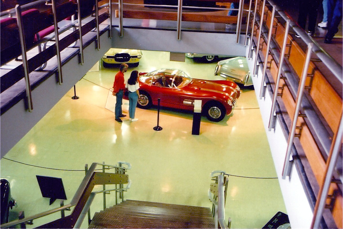 The 1953 Buick Wildcat I and the 1956/57 Chrysler Diablo Ghia on display at the Cleveland Auto & Aviation Museum