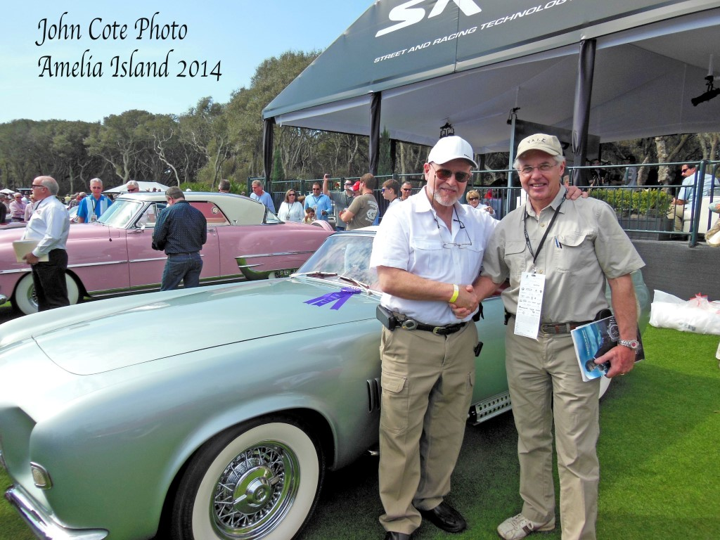 Joe Bortz & John Cote (famous post-war collector) at Amelia Island 2014