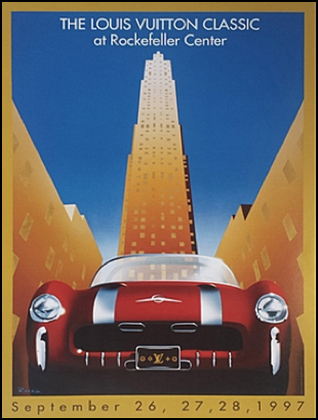 Poster of The Louis Vuitton Classic featuring the 1954 Pontiac Bonneville Special from the Bortz Auto Collection.