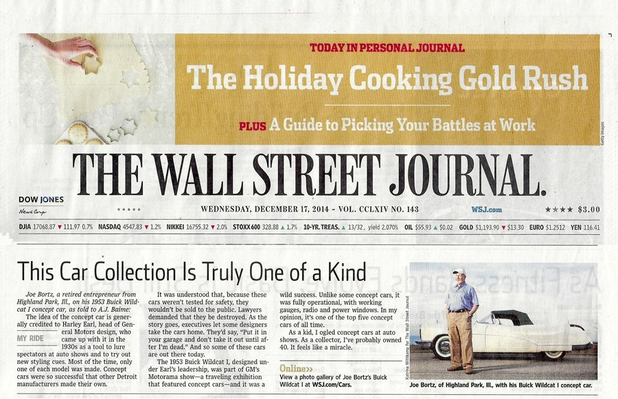 Wall Street Journal one of a kind article