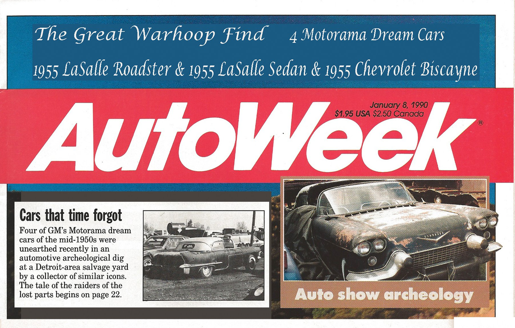 The Cars That Time Forgot by Michael Lamm, Autoweek January 8,1990