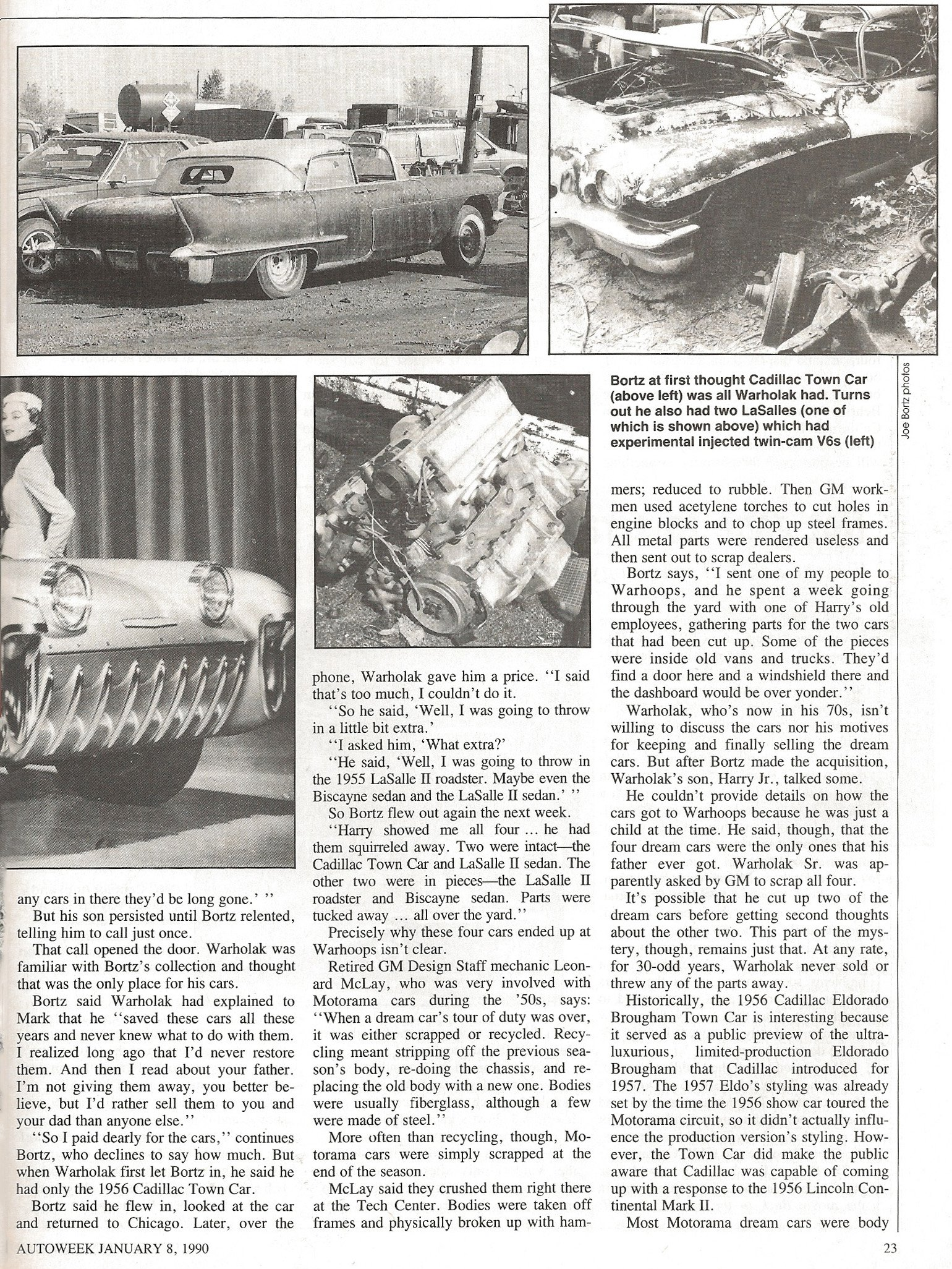 The Cars That Time Forgot by Michael Lamm, Autoweek January 8,1990 2